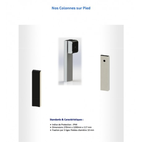 OPTION COLONNE METALLIQUE POUR WALLBOX