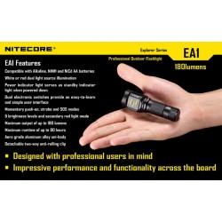 Lampe Torche Nitecore EA1 - 180Lum